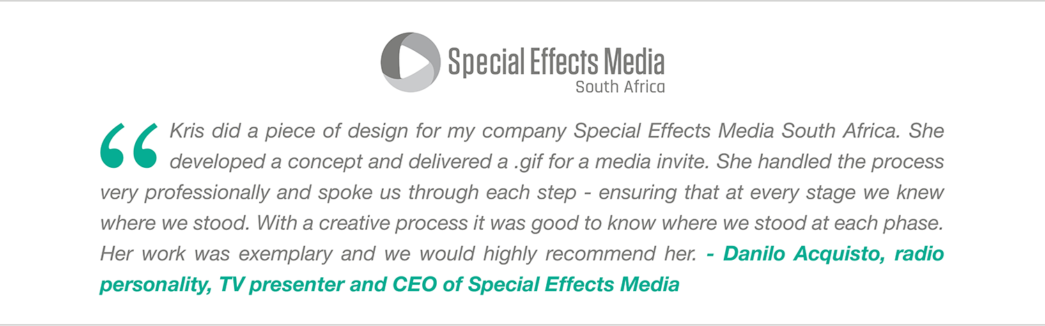 Kris513creative: Recommendation from Special Effects Media