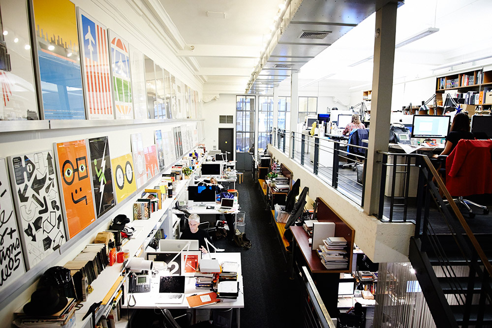 Pentagram design studio, New York City (image originally posted on eyeondesign.aiga.org)